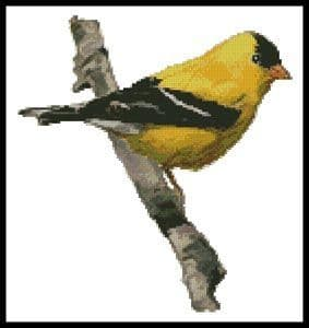 American Goldfinch by Artecy printed cross stitch chart